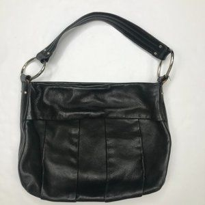 Alfani black leather handbag